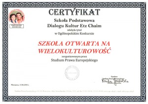 Certyfikat Wielokulturowość
