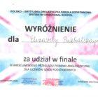 Wyróżnienie dla  Elizavety Pukhalskayej w finale III Wrocławskiego Przeglądu Piosenki Anglojęzycznej